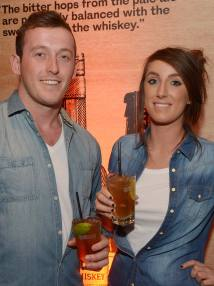 No Reproduction Fee Sean Crotty, Bishopstown and Niamh Lynch, Glanmire, pictured at the launch of the Franciscan Well Jameson-Aged Pale Ale. Pic John Sheehan Photography