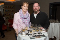 "DKANE 03/12/2015 REPRO FREE Pictured toasting the inaugural cultural Winter Whiskey Club masterclass 'Woman and Whiskey' at the River Lee Hotel are Sandra and Andres Franke, Castlemartyr. The River Lee Winter Whiskey Club celebrated its inaugural session with a special masterclass entitled 'Women & Whiskey' led by female distiller Karen Cotter. Gathered with Cotter was a largely female audience who experienced a tasting flight of Ireland's finest whiskeys on the night, including Redbreast 12 year old, Greenspot, Jameson Black Barrel and Powers 12 year old. Karen Cotter, distiller at the Microdistillery at the Jameson Experience Midleton, which is part of Irish Distillers, said: ""Jameson has led the current surge in popularity of Irish whiskey – we've grown from less than 500,000 cases in the mid-1990s to 5 million cases this year. Jameson's signature smooth taste profile, Irish character and authenticity have won legions of fans globally and we have effectively communicated with consumers through marketing properties such as film and St. Patrick's Day. Ultimately, it's the taste of the product that secures its success and future potential – and we've got that in spades across our whole portfolio."" Research reveals that women make up just 25 per cent of whisky drinkers worldwide*, but that number is increasing as cocktail culture becomes embedded in society and the appreciation of provenance and taste grows. Woman are joining the ranks of self-confessed whiskey aficionados such as Christina Hendricks and Lady Gaga, who credits Jameson for helping her song writing. The River Lee has a number cultural events planned for the Winter Whiskey Club in the New Year including Whiskey & Culture with Sean O'Riordan, Whiskey & Fashion with the Irish Year of Design and Whiskey & Music with Triskal Arts Centre and Other Voices. For more information on upcoming Winter Whiskey events at the River Lee or to make a reservation visit www.doylec"