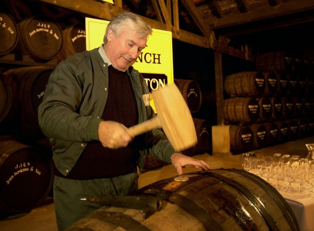 Midleton Whisley, 2001 Midleton Very Rare Billy Lee Master Copper Corks up a Cask of the new Whisley Picture: Gerard McCarthy  (digi)