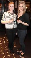 Leah Kilcullen and Susan Burke at the launch of Powers Single Cask Release Whiskey at The Temple Bar ,Dublin Pic:Brian McEvoy No Repro fee for one use