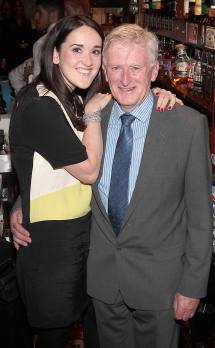 Grace O Sullivan and Master Distiller Barry Crockett at the launch of Powers Single Cask Release Whiskey at The Temple Bar ,Dublin Pic:Brian McEvoy No Repro fee for one use