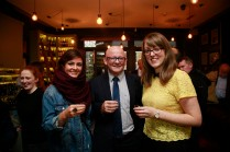19/10/2017 - Walsh Whiskey Launch at L. Mulligan's Whiskey Shop at the Powerscourt Centre. Pictured were Ailbhe coffey & Eddie Coffey with Clare Minnock, Walsh Whiskey. Photograph Nick Bradshaw