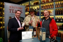 19/10/2017 - Walsh Whiskey Launch at L. Mulligan's Whiskey Shop at the Powerscourt Centre. Pictured were John Kelly & Ivor 'whisky talk' with Branko Mikovic IWS. Photograph Nick Bradshaw
